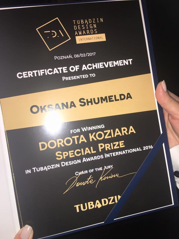 TUBADZIN DESIGN AWARD